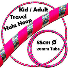 Pro Hula Hoop for Kids / Adults Weighted Travel Hoola Hoop (Pink/Silver)