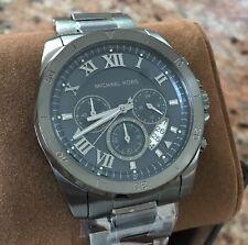 NWT Men's Michael Kors GUNMETAL CHRONOGRAPH Brecken Watch MK8582