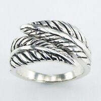 Silver ring 925 sterling handmade fern leaf floral design size 6us 7us 8us 9us
