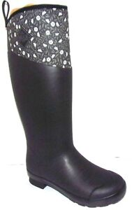 NWB Muck Women's Tremont Black or Navy Meadows Wellie Tall Performance Boots