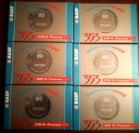 CASSETTE TAPES BLANK SEALED - 6 x (six) BASF 353 CR II FOCUS 90 [1994-1995]
