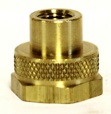 "3/4"" Female GHT x 1/4"" Female NPT Brass Hex Garden Hose Bibb Adapter with Washer"