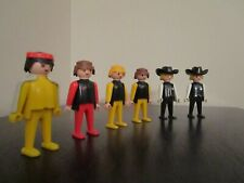 Vintage (1974) Geobra Playmobile Minifigures Lot - Prince Cowboy Sherriff