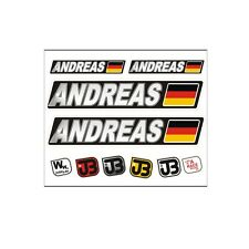 """Andreas"" Auto Fahrrad Motorrad Kart Helm Fahrername Aufkleber Sticker Flagge"