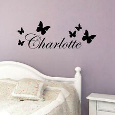 DIY Custom Kids Charlotte Name Wall Sticker Butterfly Decal For Girls Bedroom