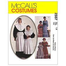 Sew & Make McCall's 2337 SEWING PATTERN - Womens PILGRIM PRAIRIE Costumes 16-18