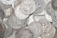 20 90% Silver Barber Half-Dollars -$10 Face Value- G or Better! STRICT GRADING!