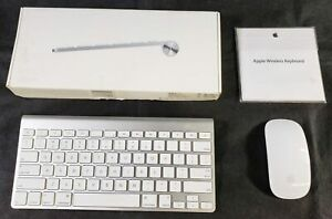 Apple A1296 Magic Mouse and A1314 Wireless Keyboard - LOT