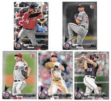 2017 WASHINGTON NATIONALS 40 Card Lot w/ BOWMAN Team Set 27 CURRENT Players