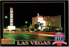 1993 Sahara Las Vegas Vintage Strip Hotel Casino Postcard Night Old Neon Sign m