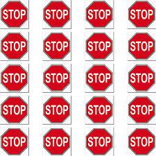20 Stück STOP Zeichen Symbol Schild Logo RC Modellbau Mini Aufkleber Sticker