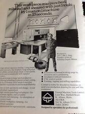L3-7 Ephemera 1981 Advert Folded Trumpf Machine Tools Ltd St Albans Herts
