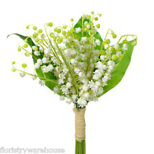 Lily of the Valley Bundle White with Leaves 40cm/15.5 Inches