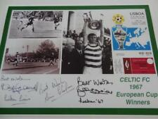 CELTIC FC 1967 THE LISBON LIONS GEMMELL CHALMERS BILLY McNEILL SIGNED (REPRINT)