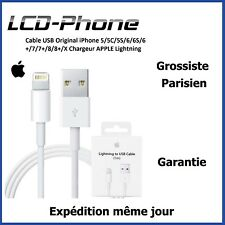 Cable USB Original iPhone 5/5C/5S/6/6S/6+/7/7+/8/8+/X Chargeur APPLE Lightning
