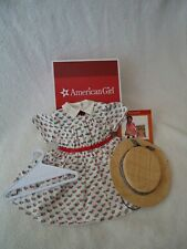 American Girl Addy's Summer Dress and Straw Hat in Box *NEW*