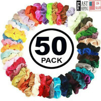 10* Hair Scrunchies Velvet Elastic Hair Bands Scrunchy Packs Multi Ties Gir Z0H8