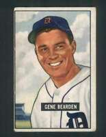 1951 Bowman #284 Gene Bearden VG/VGEX Tigers 105111