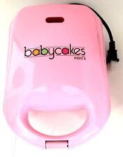 MINI Cupcake Maker Babycakes Pink 4 Non-Stick Cupcake Maker CCM-50 New