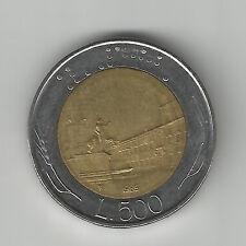 ITALY 500 Lire coin 1985 Bi-metallic