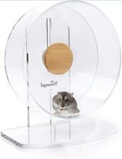 Niteangel Silent Hamster Exercise Wheel - Dual-Bearing Quiet Spinning Acrylic -S