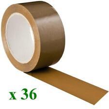 CARTON 36 ROULEAUX SCOTCH ADHESIF HAVANE RUBAN 50 X 100 M EMBALLAGE