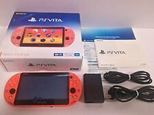 PS Playstation vita Wi-Fi model NEON ORANGE PCH-2000 ZA24 Japan game Excellent