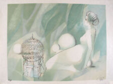 Jean-Batiste VALADIE s/n Lithograph nude woman and bird - Femme Nue Assise 1978