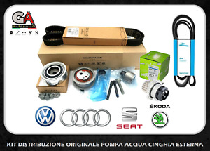 Kit distribuzione originale VW Golf 6 VI 1.6 2.0 Tdi pompa acqua cinghia esterna