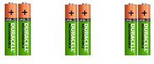 6 x AAA Baterías Recargables Duracell 750 mAh Duralock