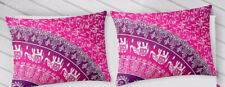"""Indian Cotton Ethnic Handmade Traditional Mandala Set-2  Bed Pillow Cover 18X28"""""""