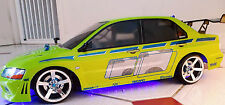 RC 10th scala FAST AND FURIOUS MITSUBISHI EVO Adesivi Decalcomanie deriva JDM