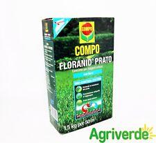 Concime Speciale Compo Floranid Prato con Ferro 1,5 kg Duo-Control-System 50 m2