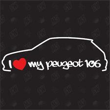 Amo mio Peugeot 106 - Adesivo ,Shock Adesivo Tuning, Decalcomania, Peugeot