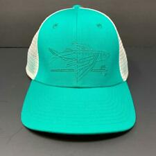 Patagonia Embroidered Flying Fish Trucker Hat Snapback Turquoise White Mesh Cap