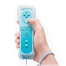 BLUE Remote controller+Silicone Case For Nintendo Wii