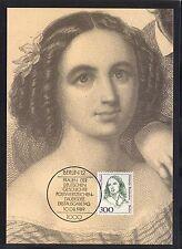 Berlin Frauen  MiNr 849 Fanny Hensel  auf Maxikarte ESST Mi 40