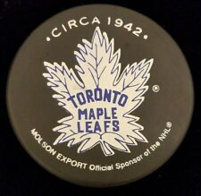 TORONTO MAPLE LEAFS HOF CIRCA 1942 RARE NHL OFFICIAL VICEROY CANADA HOCKEY PUCK