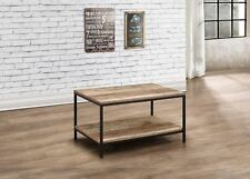 Birlea Urban Industrial Chic Coffee Table Rectangular Wood Black Metal