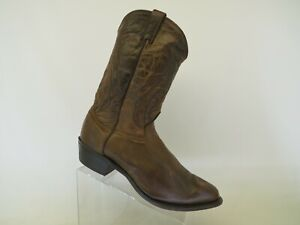 Brown Leather Cowboy Western Boots Mens Size 13 EE