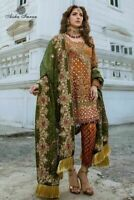 Pakistani Maria B Wedding Dress Mehndi Collection Designer Suit Shalwar Kameez