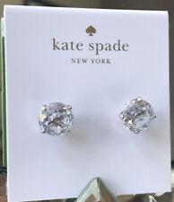 Kate Spade New York Silver Stud Crystal Earrings