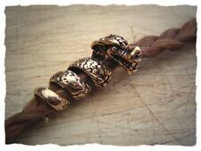 "Bartperle ""Drache"" aus Bronze - Haarperle, Wikingerperle, Wikinger Schmuck"