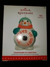 COUNTDOWN TO CHRISTMAS HALLMARK ORNAMENT 2015 MOTION & LIGHT~FREE SHIP IN US