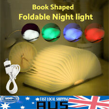 5 Colour LED Night Light USB Wooden Folding Reading Book Lamp Desk Decoration 5v