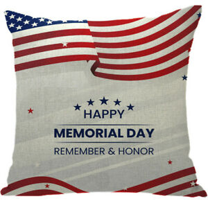 Independence Day 3D Cushion Covers Square Pillow Case Cover Sofa Home Decor #66
