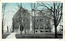 Vintage Postcard Wheeler Library S.I.N.U. Carbondale IL Illinois Jackson County