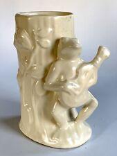Vintage Shawnee Pottery Frog With Ukulele Planter