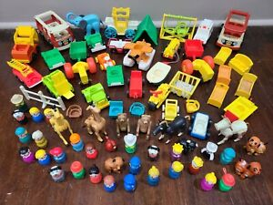 Vintage Fisher Price Little People Lot - 75+ PIECES