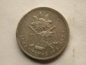 Mexico 1877 8/8 25 Centavos Guanajuato